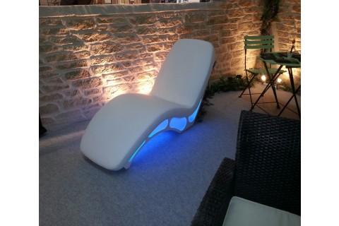 Eclairage fauteuil led bleu