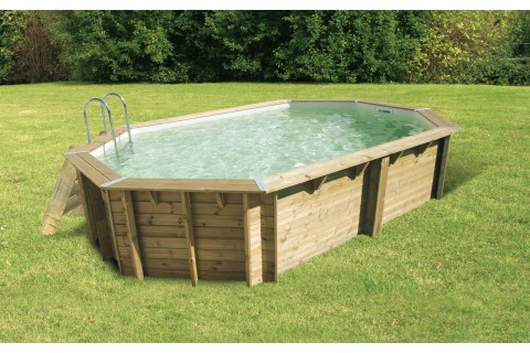 Piscine bois TONGA UBBINK Allongée en kit