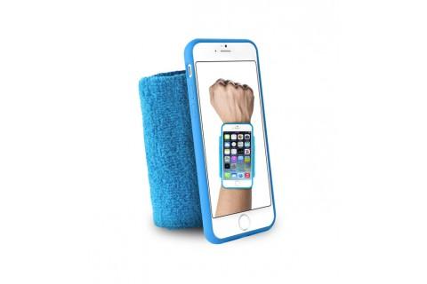 """PURO - Bandeau de poignet en éponge - Running  iPhone 6 - 4.7"""" - Bleu"""