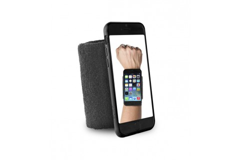 """PURO - Bandeau de poignet en éponge - Running  iPhone 6 - 4.7"""" - Noir"""