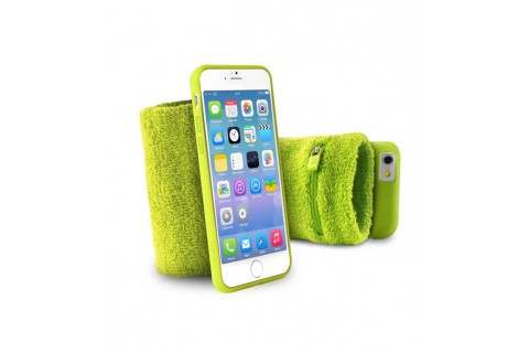 """PURO - Bandeau de poignet en éponge - Running  iPhone 6 - 4.7"""" - Vert"""