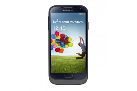 Swiss Charger - GPower - Coque noire avec Batterie pour Samsung Galaxy S4