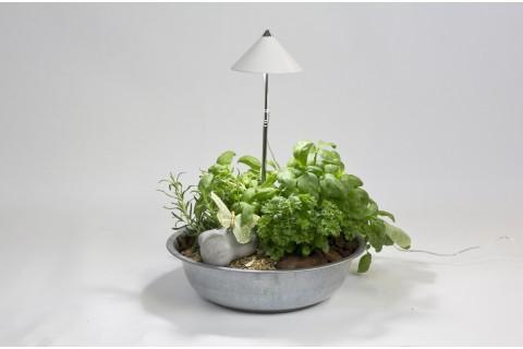 Sunlite - Lampe Horticole avec Piétement Téléscopique - Blanc
