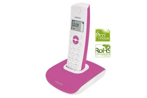 Logicom - Téléphone Fixe sans fil - Nova 350 Rose