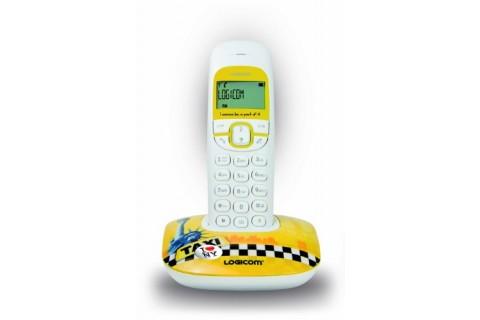 Logicom - Téléphone Fixe sans fil - SOLY 150 NY ART - Jaune