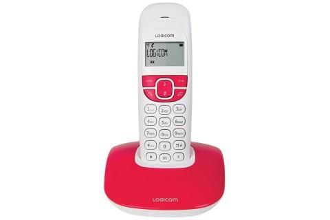 Logicom - Téléphone Fixe sans fil - SOLY 150 Pop - Rouge