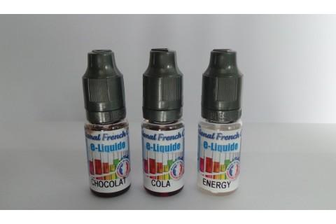 Pack liquide cigarette électronique - Gourmand - 10 mg