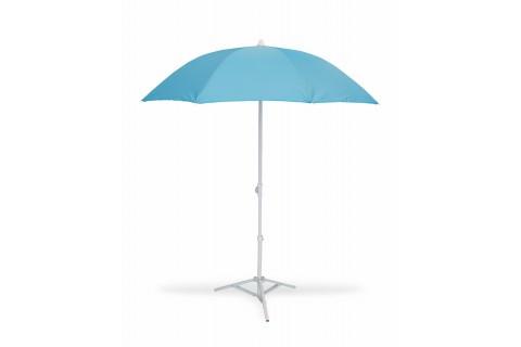 Parasol de Plage Ø160 cm - Télescopique Anti-UV - Bleu