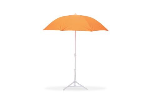 Parasol de Plage Ø160 cm - Télescopique Anti-UV - Orange