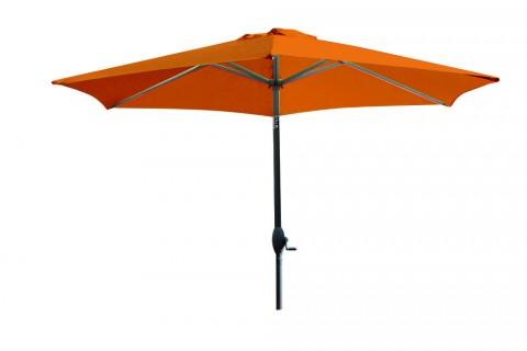 Parasol Aluminium à Manivelle 270 cm - Orange