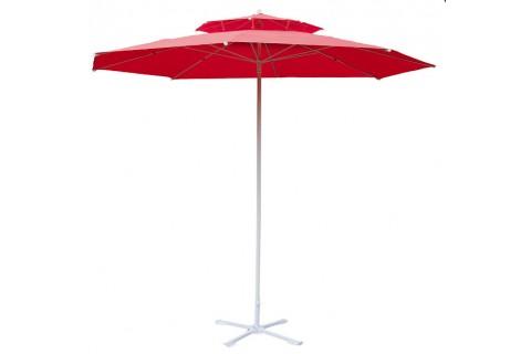 Parasol de jardin rouge