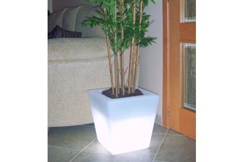 jardinière carrée eclairage blanc