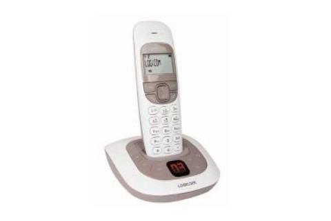 Logicom - Téléphone Fixe sans fil - SOLY 155T SOFT avec Répondeur - Taupe