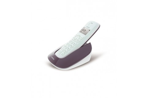 Logicom - Téléphone Fixe sans fil - Manta 150 Aubergine