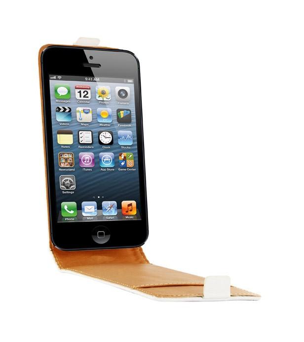 etui cuir blanc pour iphone 5 5s se. Black Bedroom Furniture Sets. Home Design Ideas