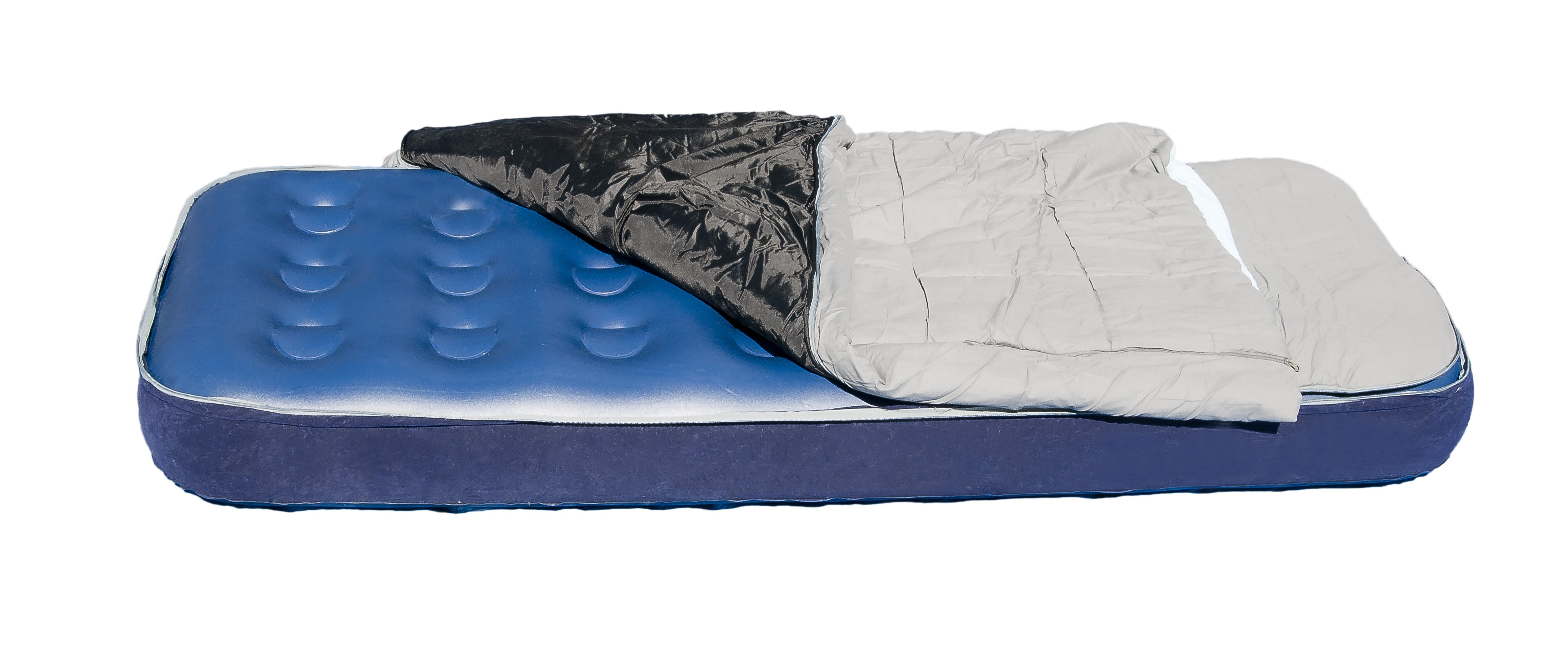 matelas gonflable avec duvet int gr. Black Bedroom Furniture Sets. Home Design Ideas