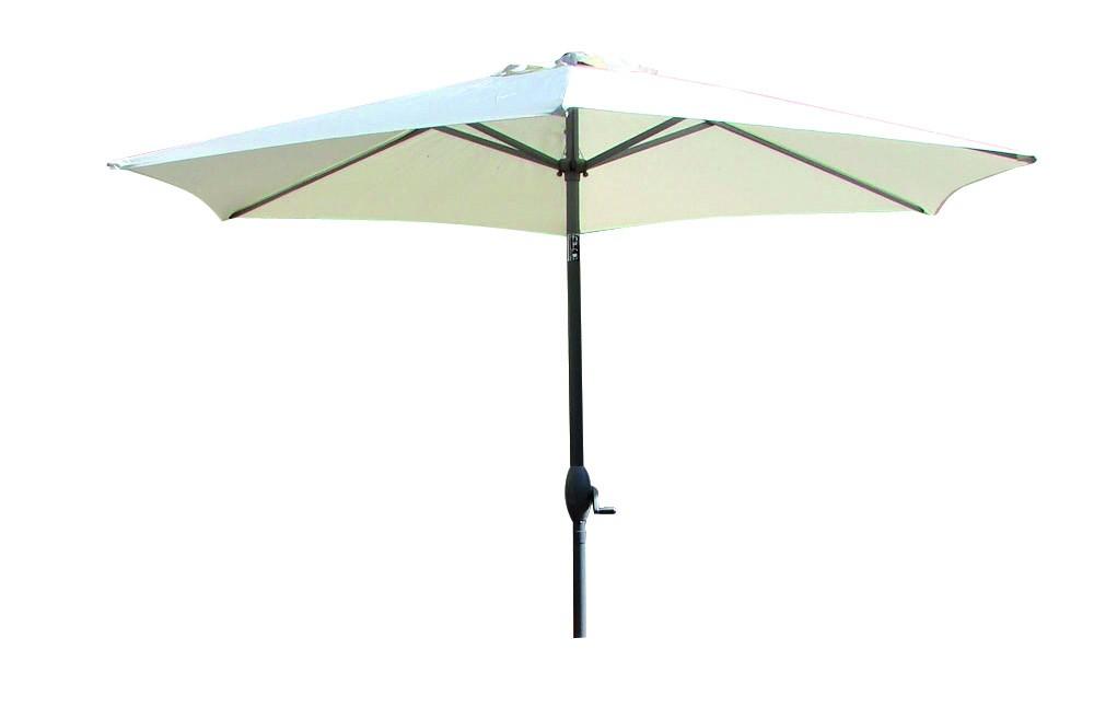 parasol aluminium manivelle 270 cm blanc. Black Bedroom Furniture Sets. Home Design Ideas