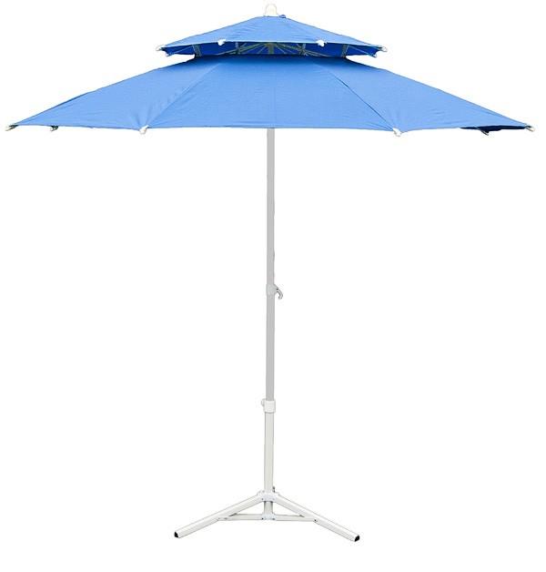 parasol de jardin 230 cm double pente bleu. Black Bedroom Furniture Sets. Home Design Ideas