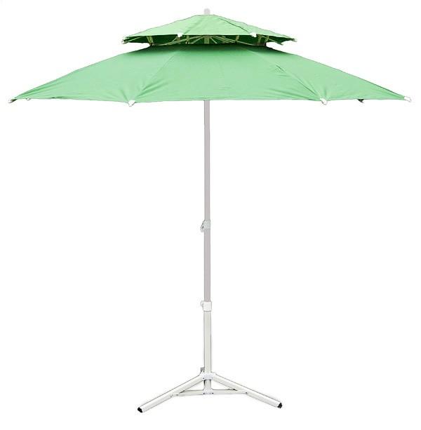 Parasol de jardin 230 cm double pente vert - Parasol double pente ...