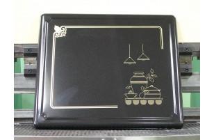 Plaque de protection pour feux à gaz - Noir Pot
