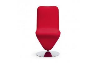 Chaise pivotante embase chromée