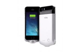 PURO GREY - Coque Batterie Powerbank pour iPhone 5/5s/SE 2200mAh