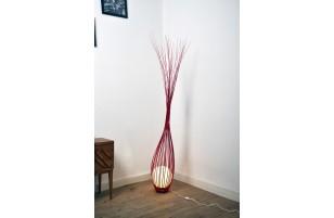 Luminaire : La goutte Rouge 170 cm