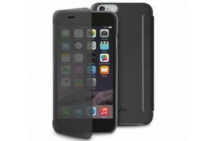 """Puro - Etui Portefeuille Transparent et Tactile Sense iPhone 6 - 5.5"""" - Noir"""