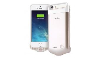 PURO GOLD - Coque Batterie Powerbank pour iPhone 5/5s/SE 2200mAh
