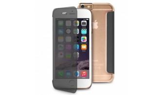 """Puro - Etui Portefeuille Transparent et Tactile Sense iPhone 6 - 5.5"""" - Noir et Transparent"""