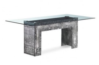 Table en verre trempé aluminium 200 x 100 cm