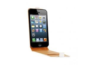 Etui cuir blanc pour iPhone 5 / 5S / SE