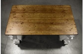 Table design en bois et métal