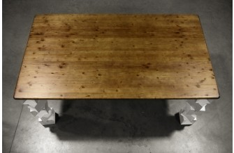 Table design plateau en bois 180 cm