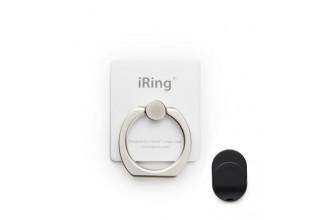iRing Premium - Anneau de prise en main/support amovible smartphone tablette - Blanc
