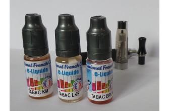 Pack liquide cigarette électronique - Tabac - 16 mg