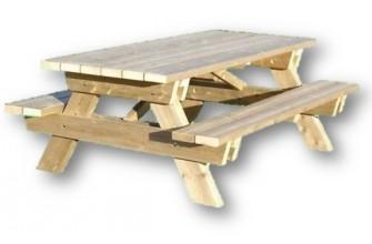Table Pique-nique renforcée en bois