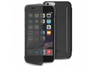 "Puro - Etui Portefeuille Transparent et Tactile Sense iPhone 6 - 5.5"" - Noir"