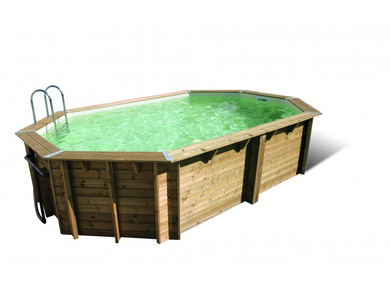 Piscine bois tonga ubbink allong e en kit for Destockage piscine bois