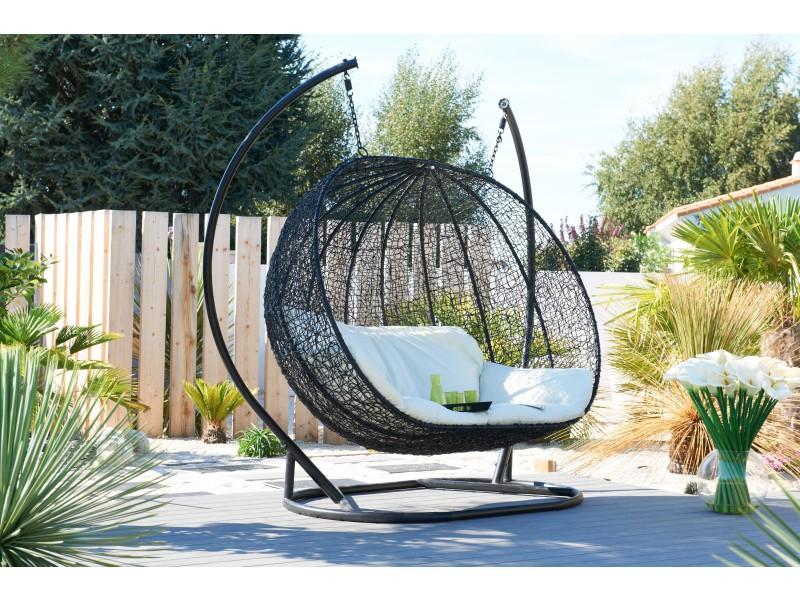 balancelle suspendue 3 places. Black Bedroom Furniture Sets. Home Design Ideas