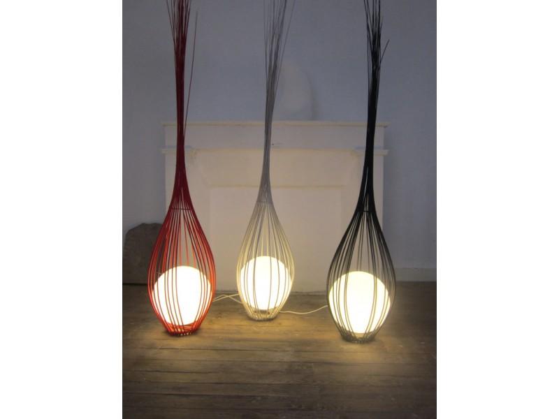 Luminaire la goutte rouge 200 cm chambre d co maison for Luminaire rouge