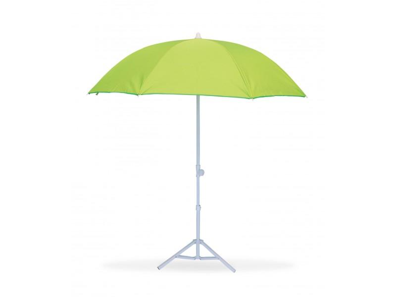 parasol de plage t lescopique anti uv diam tre 160 cm vert. Black Bedroom Furniture Sets. Home Design Ideas