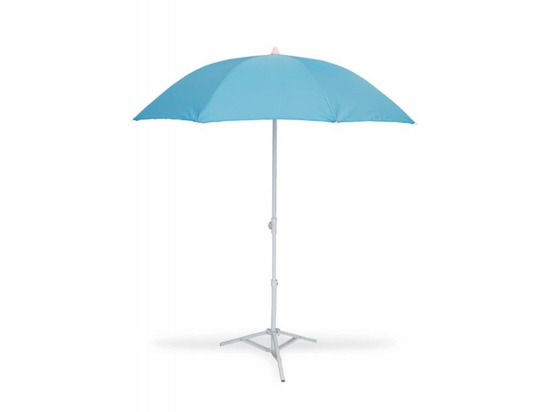 parasol de plage t lescopique anti uv diam tre 160 cm bleu. Black Bedroom Furniture Sets. Home Design Ideas