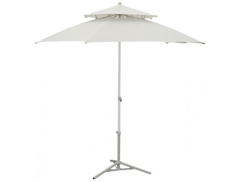 parasol de jardin 230 cm double pente blanc. Black Bedroom Furniture Sets. Home Design Ideas