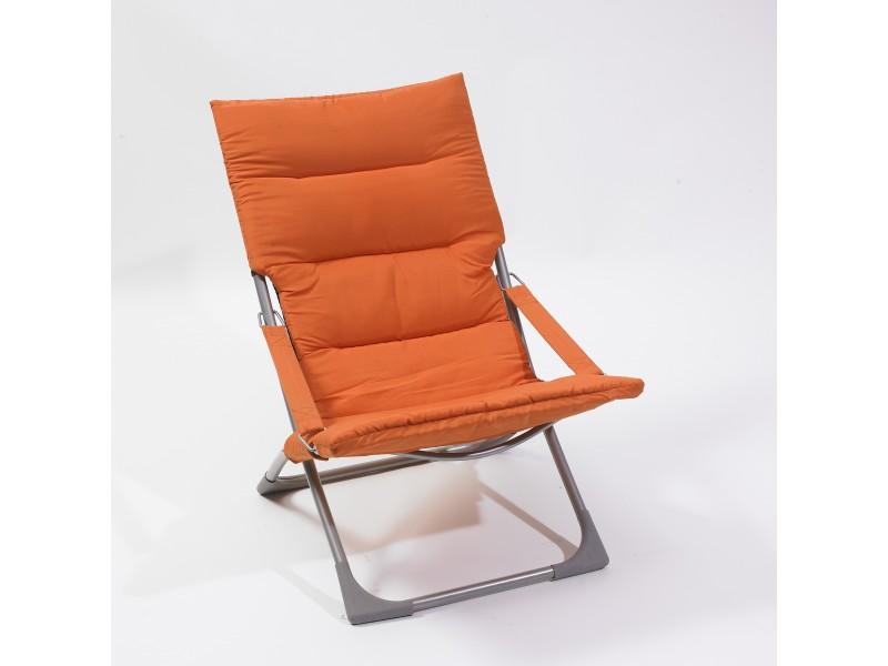 Relax pliable orange mobilier ext rieur plein air brico for Table exterieur orange
