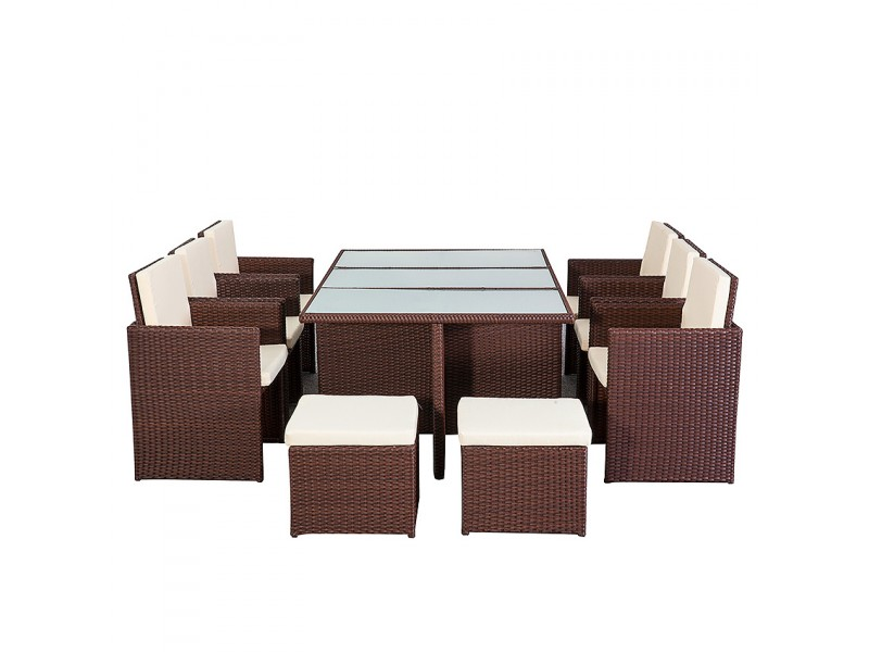 salon de jardin table manger marron. Black Bedroom Furniture Sets. Home Design Ideas